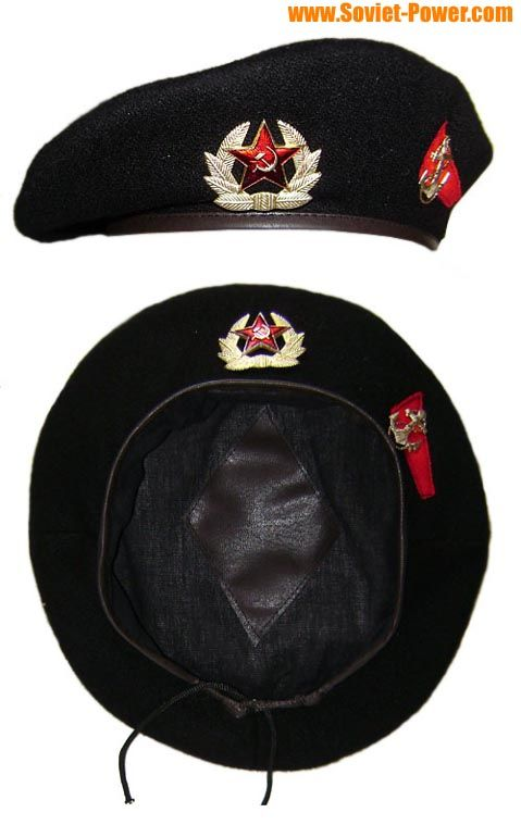 8407be7fa9b20 Soviet Military MARINES black Beret hat