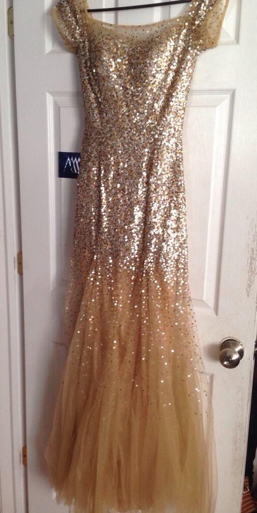 Sherri Hill Gold Size 2 Long Pageant/Prom Dress