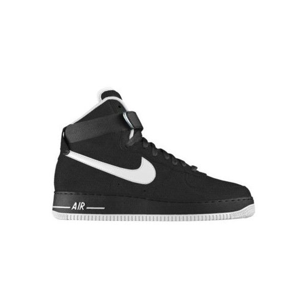 buy popular 18387 a6d21 Nike Air Force 1 High Premium iD Custom Womens Shoes - Black, 10.5  (635.855 COP) ❤ liked on Polyvore featuring shoes, 80s shoes, nike footwear,  ...