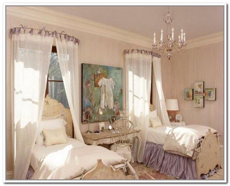 Canopy beds, Curtain rods and Bedding on Pinterest