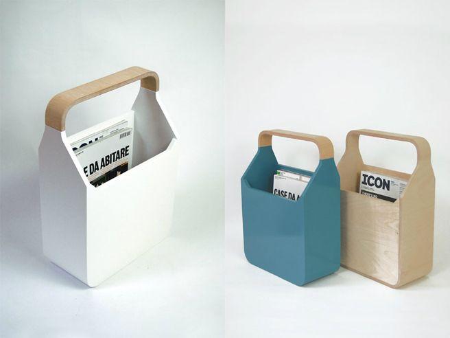"""""""Magi"""", ply-wood magazine storage, designed by Pottinger + Cole"""