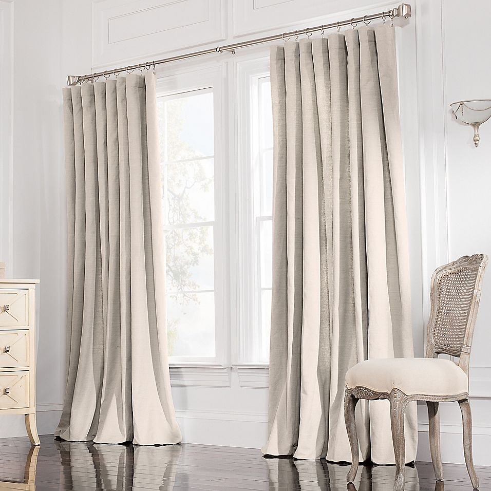 Valeron Estate 120 Inch Rod Pocket Insulated Double Width Window Curtain Panel In Flax Panel Curtains Curtains