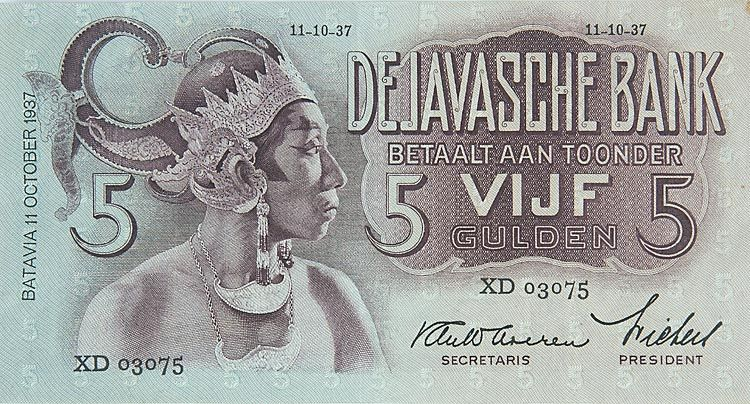 Bankbiljet van de Javasche Bank