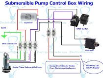 Single Phase 3 Wire Submersible Pump Control Box Wiring Diagram Or Single Phase Submersible Pump Starter Submersible Pump Electrical Circuit Diagram Well Pump