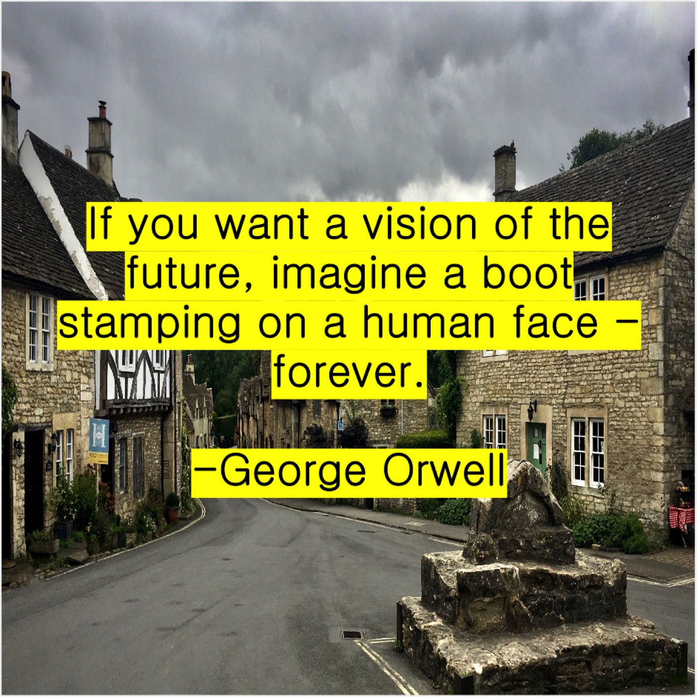 George Orwell - If You Want A Vision