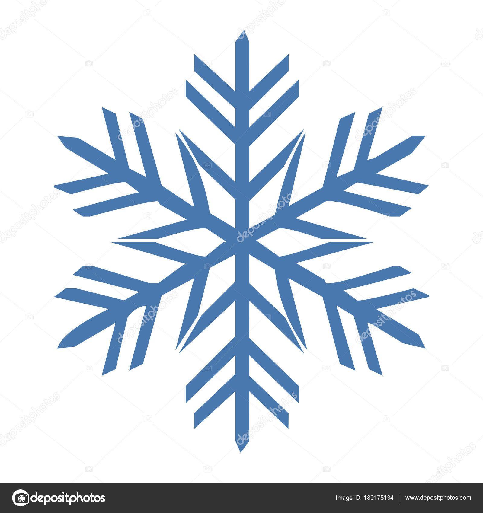 Couleur Flocon Neige Vector Icone Bleu Hiver Blanc Noel Flocon De Neige Illustration Illustrations Vectorielles