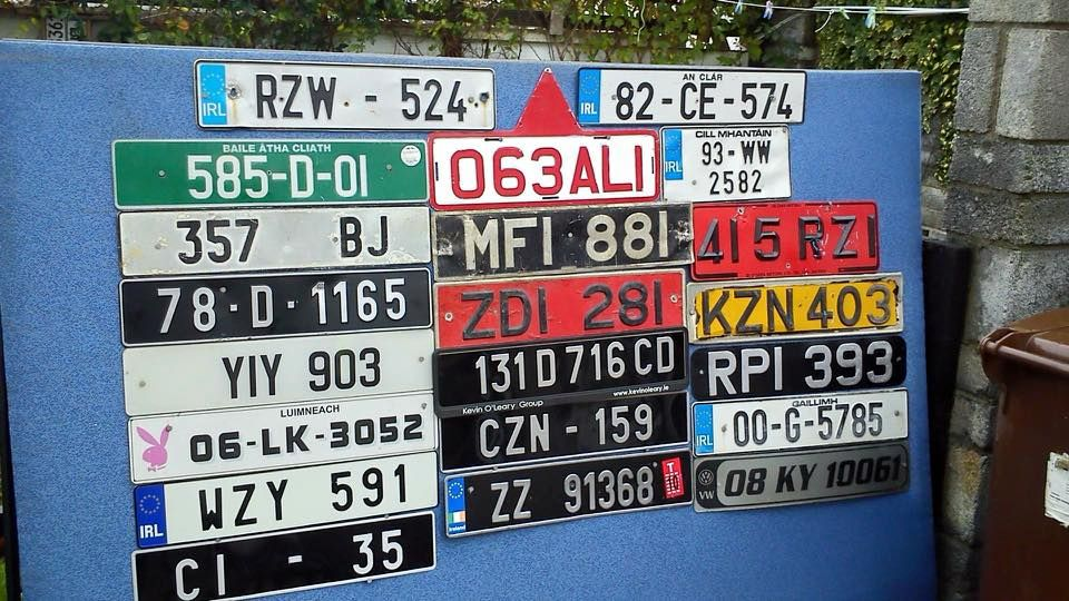 Pin by Kevin McCarthy on Old Ireland Number License Plates ...