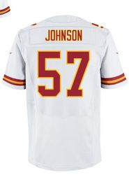"""$78.00--Jovan Belcher White Elite Jersey - Nike Stitched Kansas City Chiefs #59 Jersey,Free Shipping! Buy it now:click on the picture, than click on """"visit aliexpress.com"""" In the new page."""