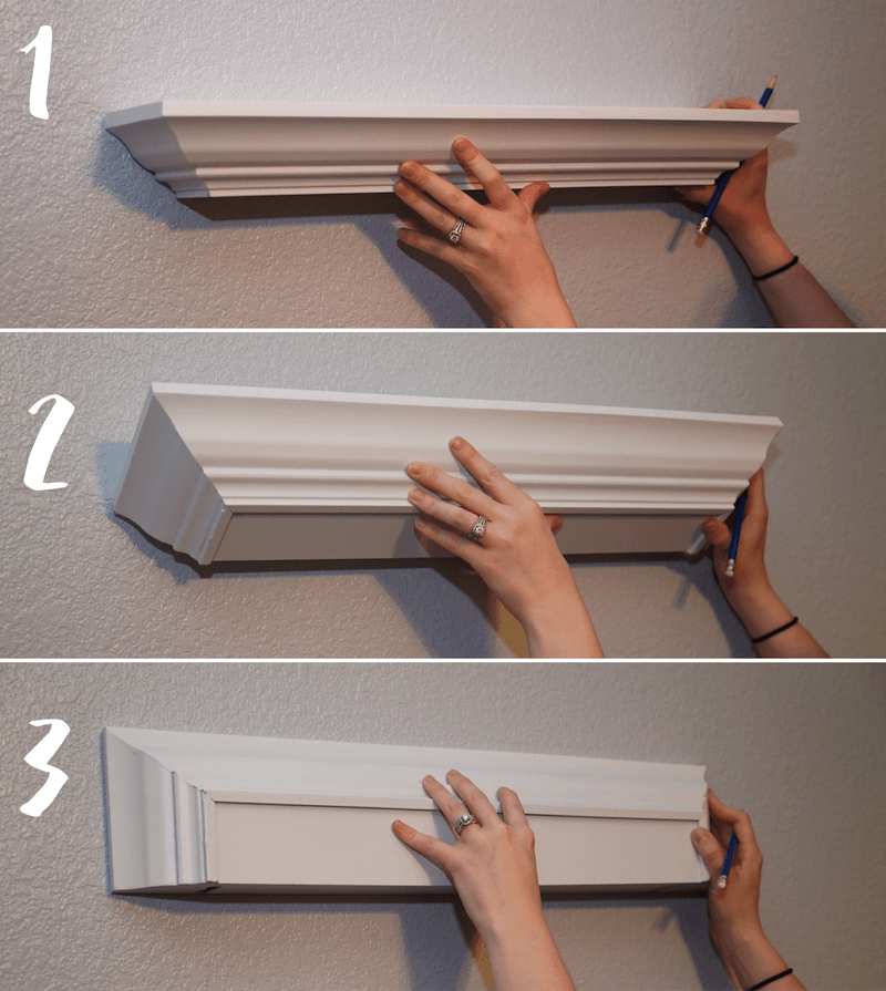 How to Hang Floating Shelves  Easiest Way to Hang