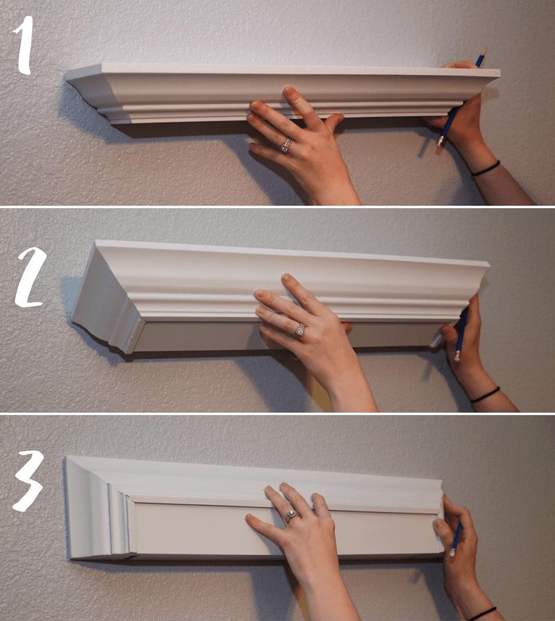 Step By Step Guide To Hang Floating Shelves Diy Shelves Bedroom