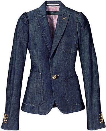 19f5712a0 Blazer Jeans Feminino | Sugestões! de 2019 | Blazer jeans, Blusa ...