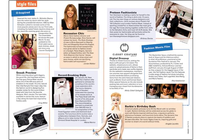 2 Page Magazine Layout   ... The Emerald Closet. Chose all items ...