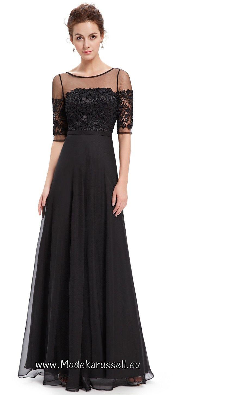 Halbarm Vintage Maxi Abendkleid Soraya Schwarz | Maxi-Kleider ...
