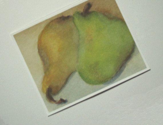 Poires aquarelle Print photo poire poire par SycamoreWoodStudio