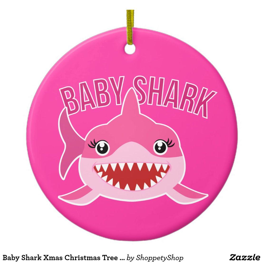 Baby Shark Xmas Christmas Tree Ornament