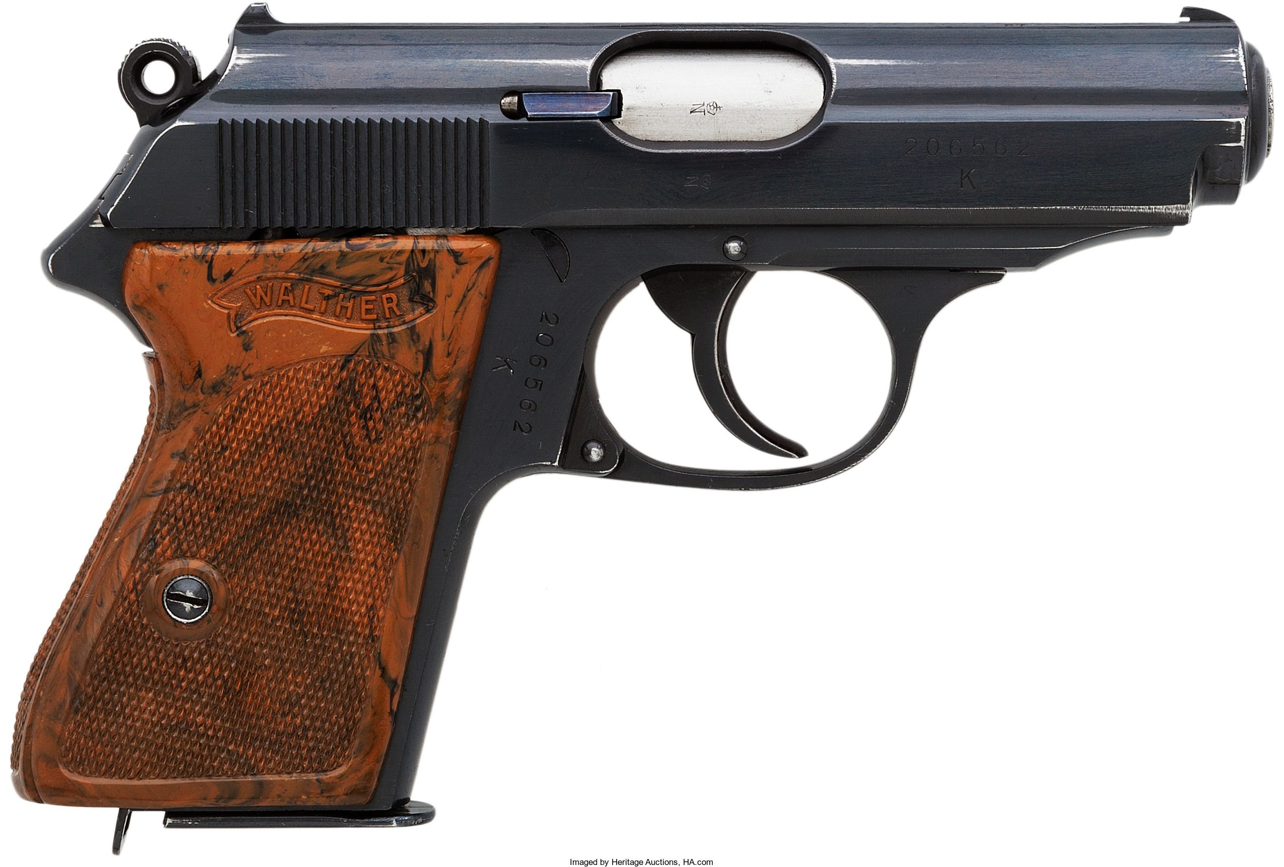 Walther PPK Semi-Automatic Pistol with Rare K Series SS Contract ...