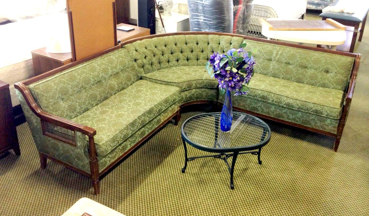 Miraculous Vintage French Provincial Sectional Sofa Furniture Dailytribune Chair Design For Home Dailytribuneorg