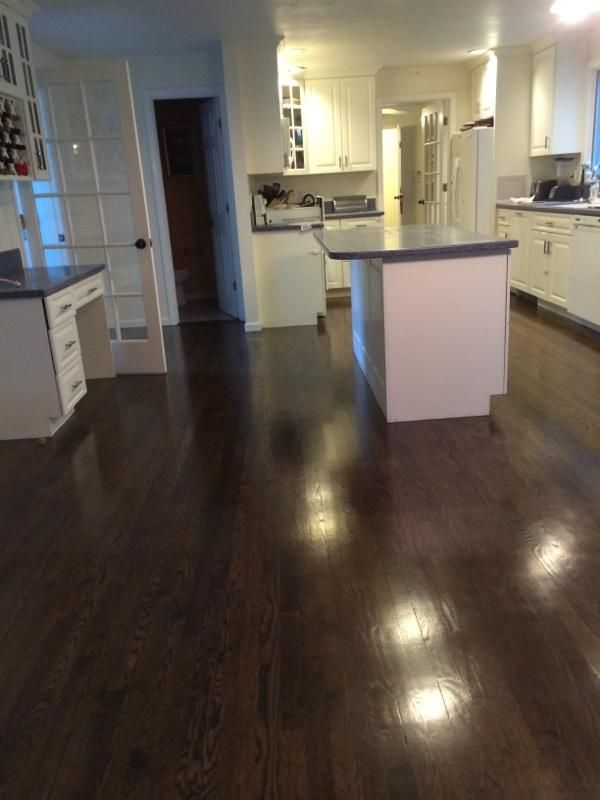 We Recently Resanded Red Oak Hardwood Floors And
