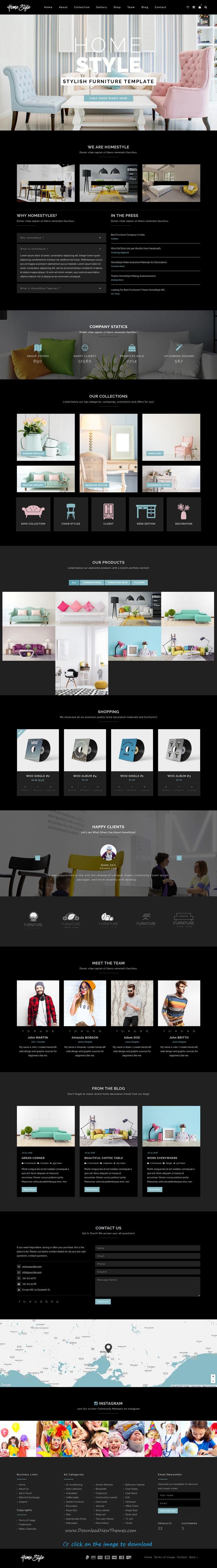 Homestyle | Responsive Furniture Interior WordPress Theme ...