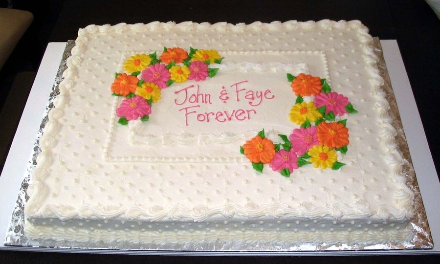 Gerbera Daisies With Images Wedding Sheet Cakes Wedding