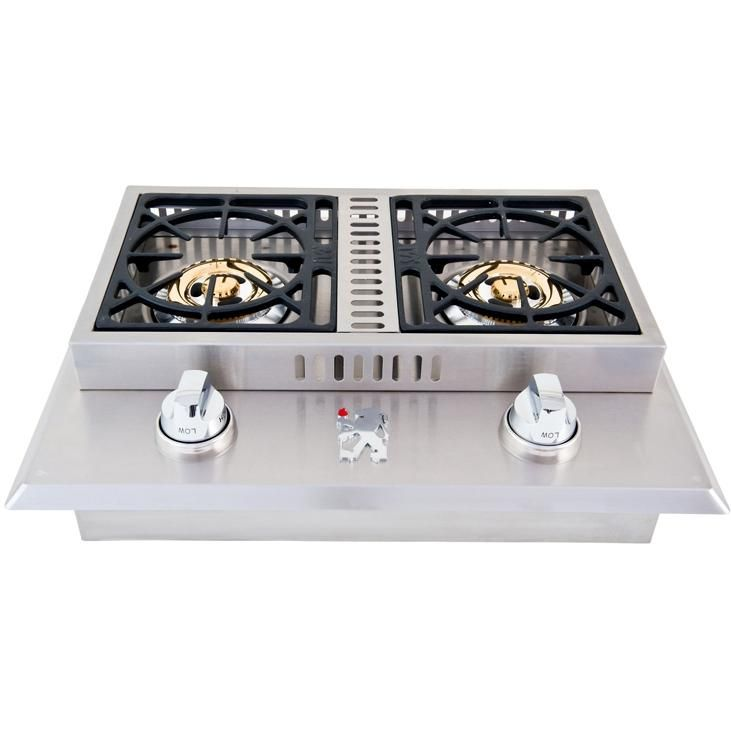 Lion Stainless Steel Drop In Natural Gas Double Side Burner Bbqguys Outdoor Kitchen Appliances Outdoor Kitchen Design Outdoor Kitchen