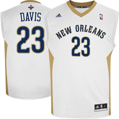 06a8912aa Mens New Orleans Pelicans Anthony Davis adidas White Replica Home Jersey