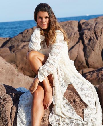 The White Dress In Lace Karine Ferri On The Account Instagram Of karineferri The white dress In lace Of KarineFerri karineferr In Dame Blanche Women