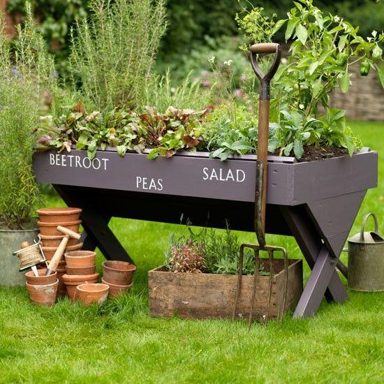 salad trough country garden ideas garden photo gallery country homes and interiors - Herb Garden Ideas Uk