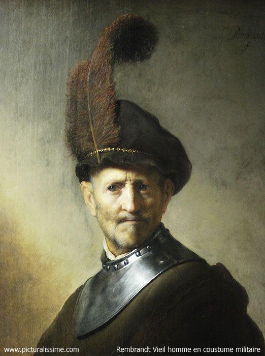 Rembrandt - Vieil homme en costume militaire