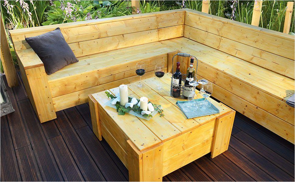 Sitzecke Fur Ihre Terrasse Bauen Gartenlounge Selber Bauen Terrasse Bauen Balkon Selber Bauen