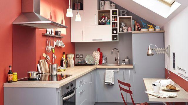 Tendance Déco Couleur Chambre Cuisine Salon Vintage - Meuble cuisine rouge pour idees de deco de cuisine