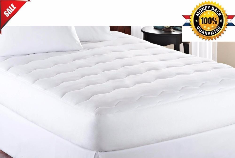 Mattress Pads Topper Extra Thick 1 Bedding Protector Polyester Cover Bedroom Mainstays Mattress Bed Best Mattress