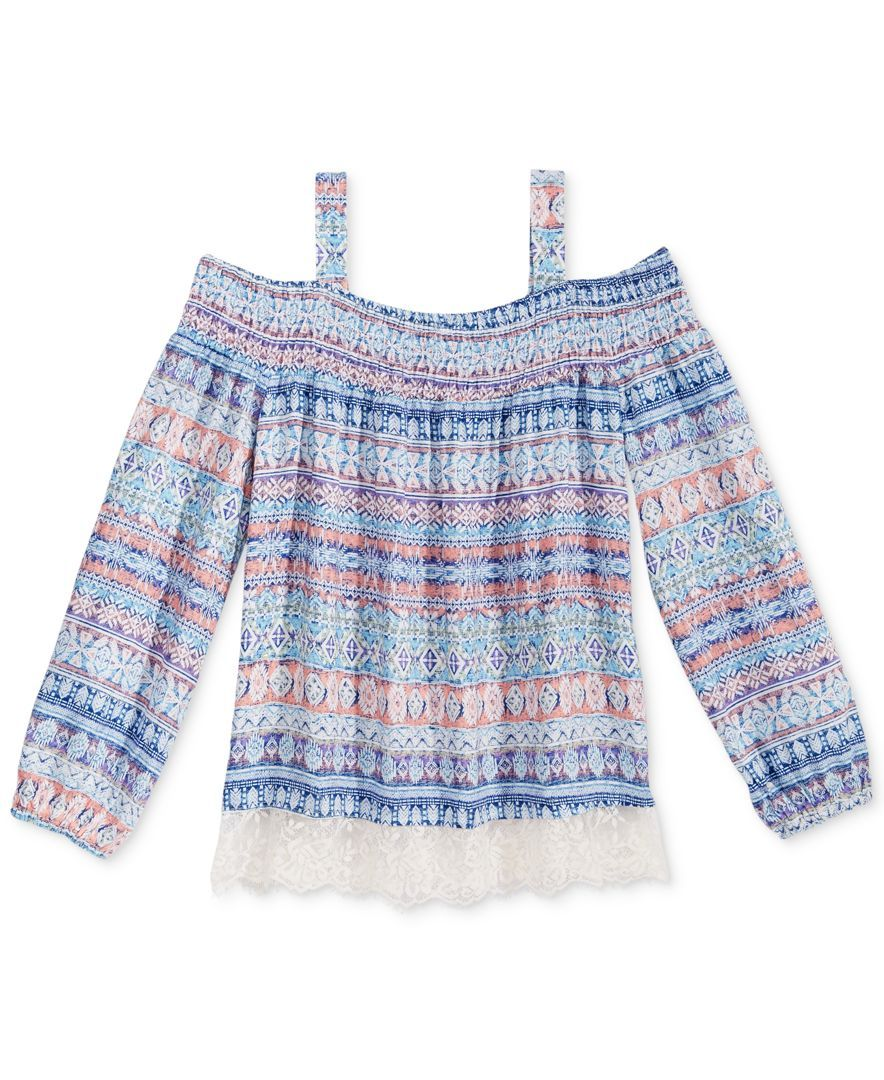 e287b7dae Kandy Kiss Off-The-Shoulder Peasant Top, Big Girls (7-16) | Products ...