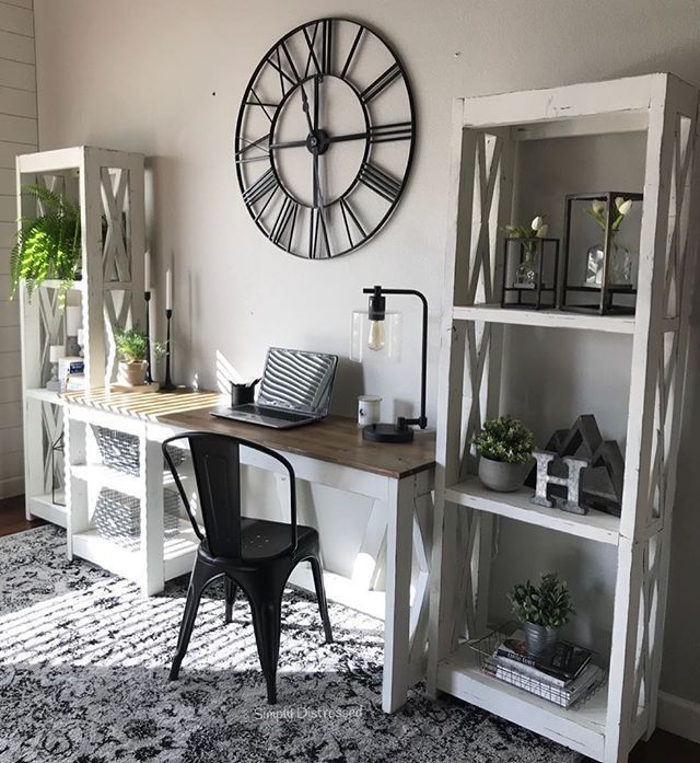 40 Classy Farmhouse Home Office Design images