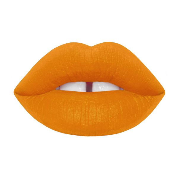 Velvetines featuring polyvore, beauty products, makeup, lip makeup, lipstick, lime crime, orange, velvetine, matte, orange lipstick, matte finish lipstick, matte lipstick, matte orange lipstick and vegan lipstick