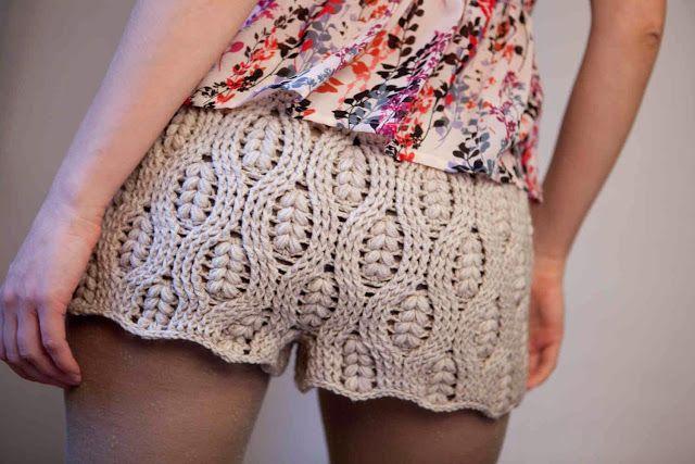 f0fd286d8 Pantalon Corto Mini Short de Crochet Para Verano Paso a Paso Con ...