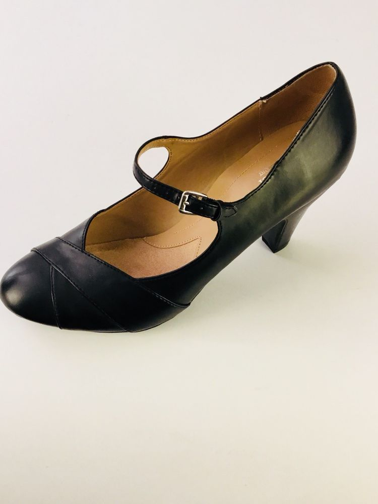 7a33b58e698c Naturalizer N5 comfort shoes black Mary Jane Heel Womens Size 11 EU 42   Naturalizer  Comfort  Casual