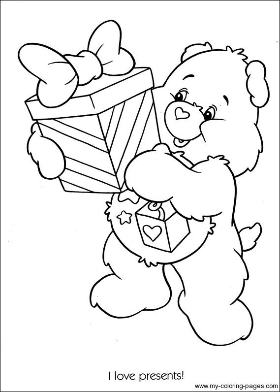 Coloring Sheets Adult Books Teddy Bear Pages Care Bears Printable Free Christmas Themes