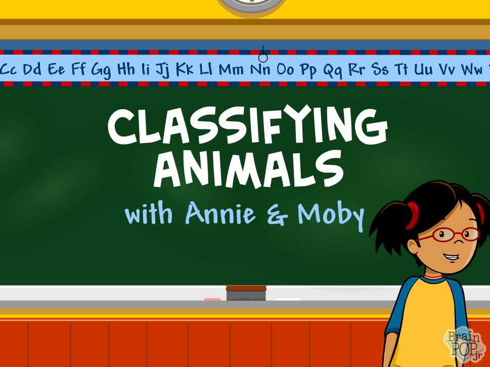 Brain Pop Jr Video On Classifying Animals Would Be A