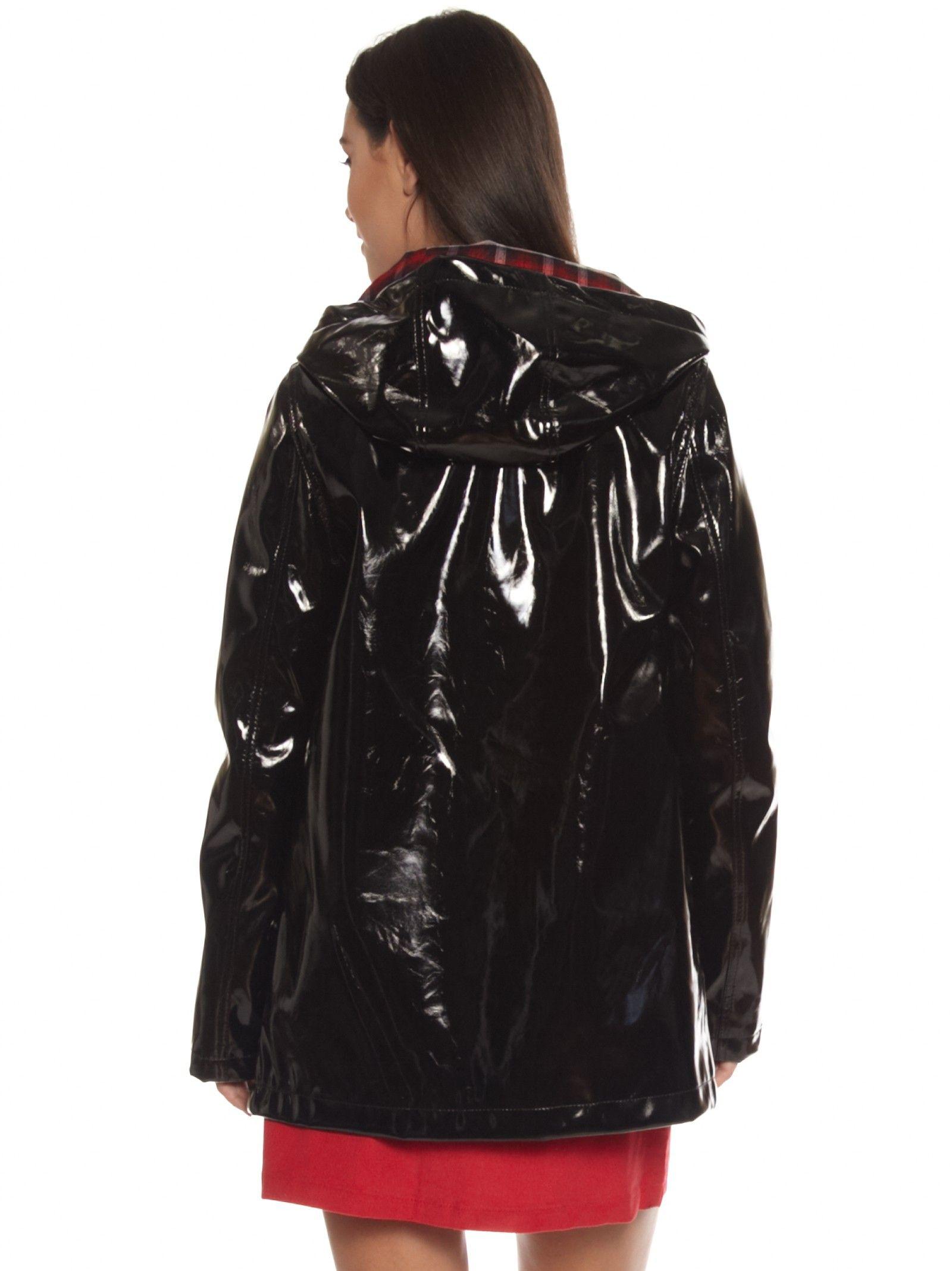 Black Pvc Coat Glamorous Pvc Rain Coat In Black
