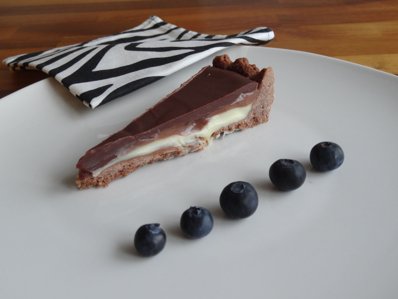 Dreischicht Schokoladentarte Schokoladentarte Kuchen Beste Kuchen