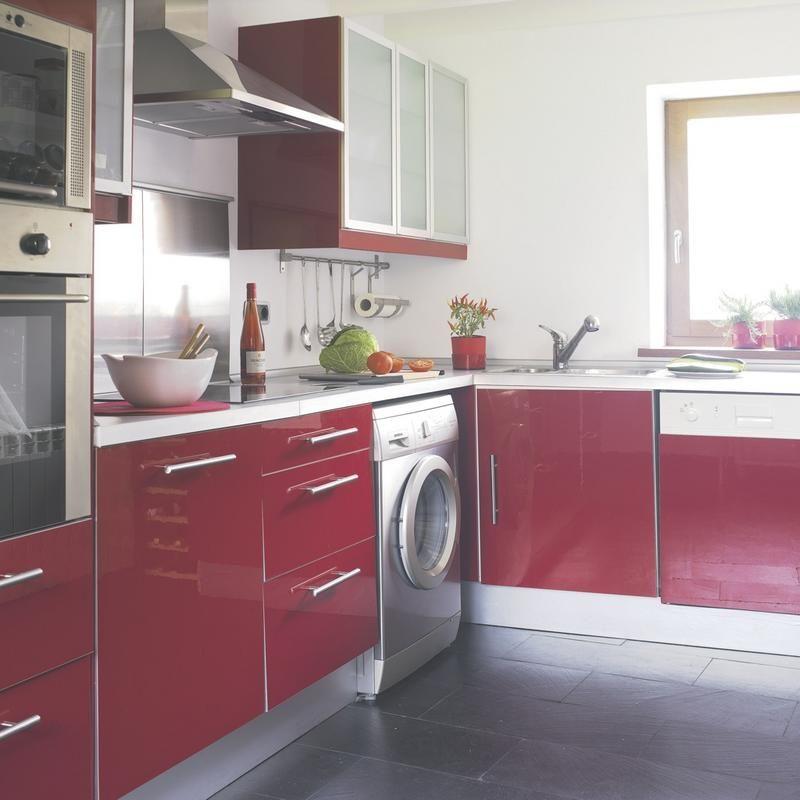 Cocinas bonitas y modernas cocinas en blanco rojo y blanco for Cocinas bonitas y modernas