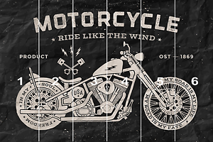 Vintage Service Rase Old Motorcycle Wall Mural Photo Wallpaper GIANT