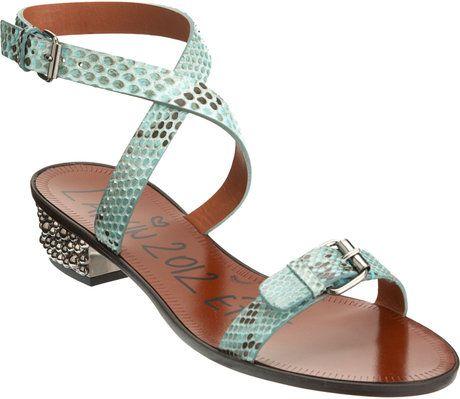 Python Studded Heel Sandal