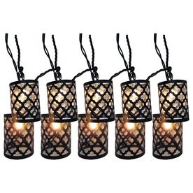 Style Selections 7.8 Ft Black Mini Bulb Scroll Patio String Lights   Lowes    Lights