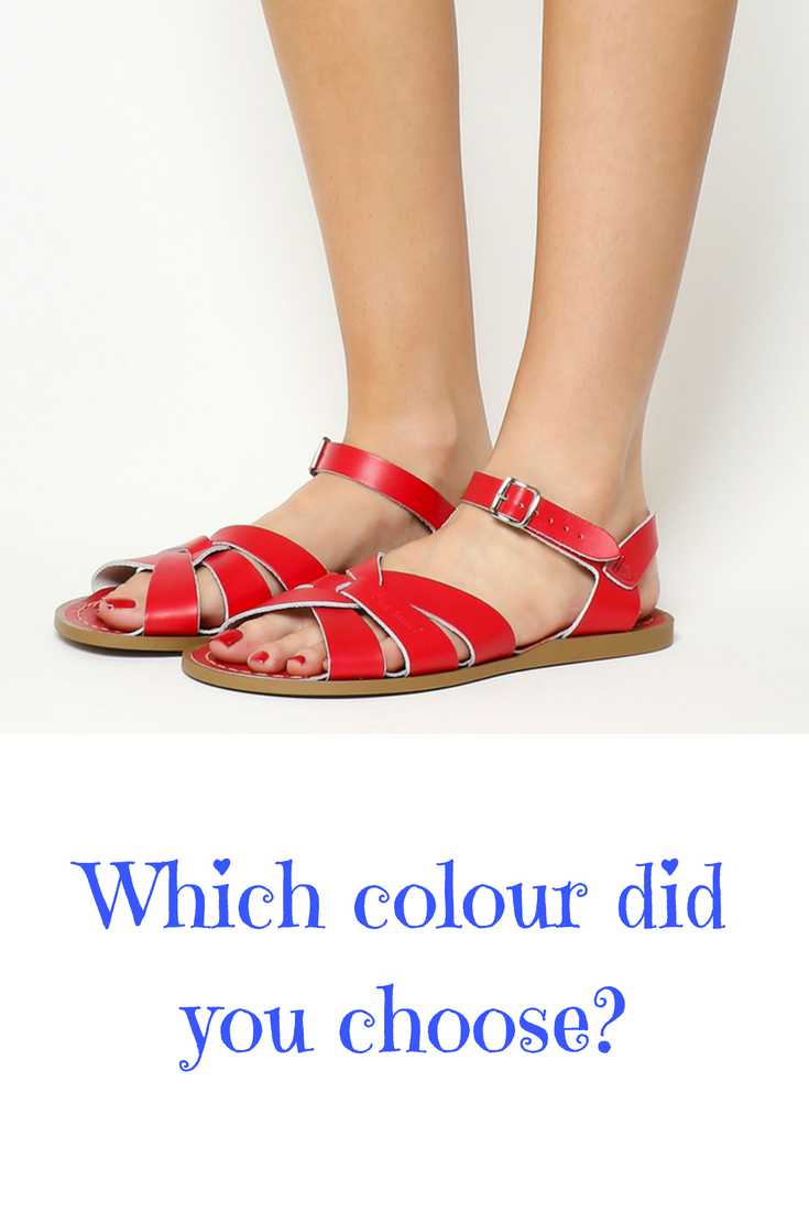 54859514a4f9e4 Classic saltwater sandals for looong summer days. But which colour to  choose...    red