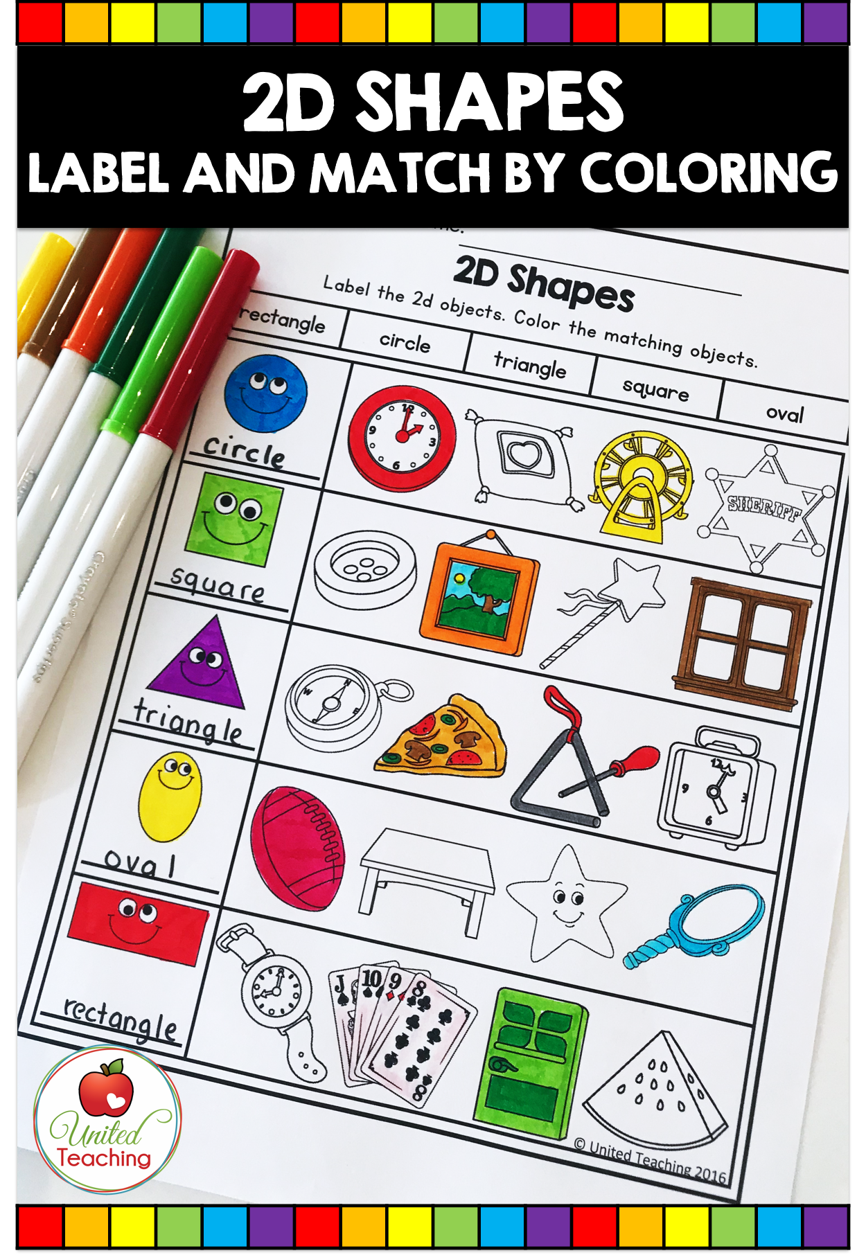 FALL MATH ACTIVITIES (1ST GRADE) - United Teaching   Shapes worksheets [ 1812 x 1250 Pixel ]