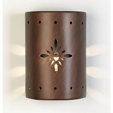 Ceramic Star Pattern Outdoor Wall Light   #52670 | Lamps Plus