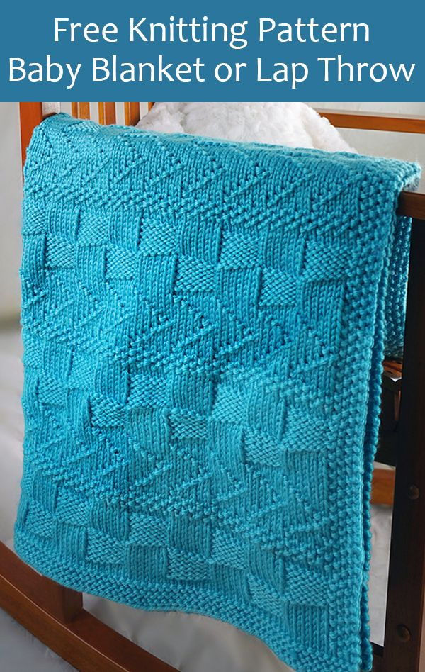 Free Knitting Pattern for Chevrons and Blocks Baby Blanket or Lap Throw