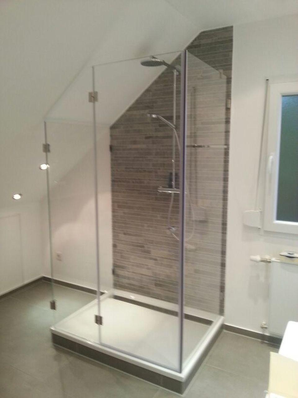 Walk In Dusche Aus Glas Schlicht Und Angesagt Badezimmer Glas Glasdusche Walkin Modern Glasduschen Duschabtrennung Dusche